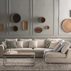 Wade Logan Moore Living Reversible Modular Sectional Upholstery: Off-White Living Room Furniture, Home Furniture, Furniture Stores, Office Furniture, Antique Furniture, Living Room Modern, Living Rooms, Living Area, Sofa Set