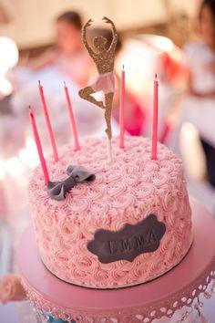 Ballerina Themed 5th Birthday Party with Lots of Really Cute Ideas via Kara's Party Ideas KarasPartyIdeas.com #ballerinaparty #balletparty #...