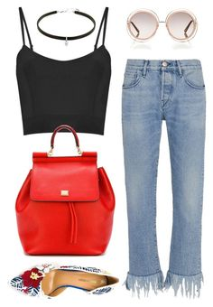 """""""May 4, 2016"""" by sundaeeizz on Polyvore featuring 3x1, Dsquared2, Chloé and Dolce&Gabbana"""