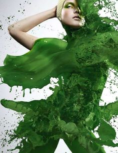 Iain Crawford's latest photo shoot features models wearing nothing at all except for splashes of paint. Utilizing high-speed photography, Crawford has been able to photograph these models 'wearing' an outfit made of paint.