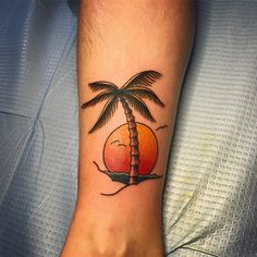 cool 55 Fine Palm Tree Tattoo Ideas - Easy and Super Cute Totems Check more at http://stylemann.com/best-palm-tree-tattoo-ideas/