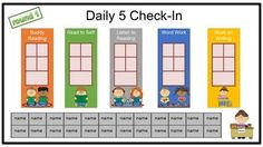 FREE - Editable daily 5 check-in for your smartboard or mimio Daily 5 Reading, 3rd Grade Reading, Teaching Reading, Guided Reading, Teaching Ideas, Learning, Teaching Resources, Daily 5 Kindergarten, Daily 5 Math