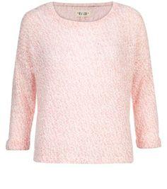 Light Pink Fluffy Knit Lightweight Jumper
