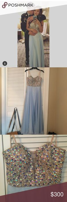 Beautiful prom dress Worn to a military ball. No flaws. Corset back with zipper. Bought from dillards. Label for exposure. Don't want to sell but need a new one for this year Sherri Hill Dresses Prom