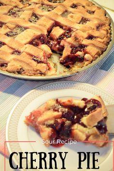 Sour Cherry Pie, Sour Foods, Pie Recipes, Apple Pie, Cookies, Desserts, Blogging, Greek, Mom
