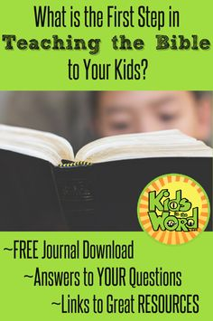 Lots of parents have questions about how to get started teaching the Bible to their kids. The first step is much more simple than most parents thing. Read about the first step at Kids in the Word. Bible Study For Kids, Bible Lessons For Kids, Kids Bible, Scripture Memorization, How To Teach Kids, Bible Activities, Bible Teachings, Sunday School Lessons, Kids Reading