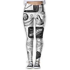 ebf06eec0b CAWHJDW Women's Classic Taco Cats Flex Yoga Leggings Pants Gym Capri | Snow  Fashion Apparel | Pinterest | Leggings, Snow fashion and Leggings are not  pants
