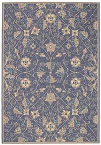 Capel Elsinore Garden Maze Blue 450 area #rugs - This can be purchased at BoldRugs.com