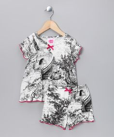 Noir Toile Tee & Shorts - Toddler & Girls by Charm'd