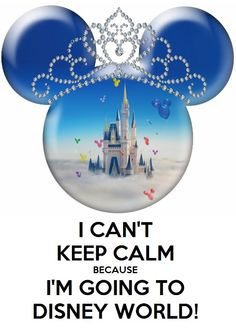 I can't keep calm because I'm going to Disney World! - Made this for our up coming trip!