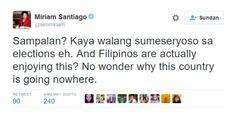 Miriam to Filipinos: Focus on serious issues not on Duterte-Roxas slap match #RagnarokConnection