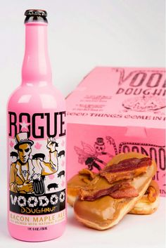 Voodoo Doughnut, Bacon Maple Syrup flavored. Rogue Brewery, Oregon ...