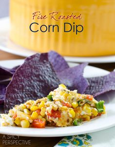Chunky, cheesy, creamy, smoky, corn dip that is slap-you-speechless good! Serve this Fire Roasted Corn Dip at your party this weekend and watch it disappear Recipes Appetizers And Snacks, Appetizer Dips, Yummy Appetizers, Appetizers For Party, Snack Recipes, Healthy Recipes, Corn Dip, Roasted Corn, Food For Thought