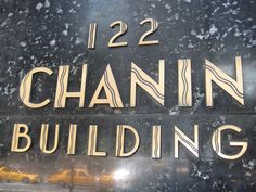 Art Deco type, Chanin Building, New York. #type