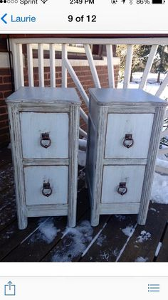 Pair Vintage Nightstands by Antique2Chic on Etsy