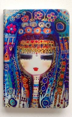 Notebook by Canan Berber-1 Turkish Art, Arabic Art, Schmuck Design, Face Art, Painting Inspiration, Book Art, Concept Art, Art Projects, Contemporary Art
