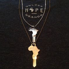 Key Necklace on Ball Chain