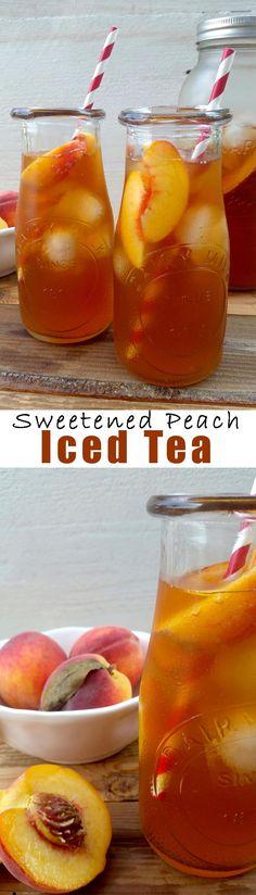 Sweetened Peach Iced Tea