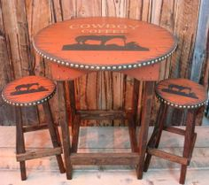 Love this! There is nothing better than genuine cowboy coffee. via Cowboy Brand Furniture.