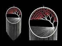 Super easy wall hanging tree of life l How to Make Macrame Tree of Life . Macrame Wall Hanging Patterns, Macrame Art, Macrame Design, Macrame Projects, Macrame Patterns, Macrame Knots, Macrame Tutorial, Diy Tutorial, Dream Catcher Decor