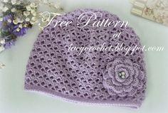 Lacy Crochet: Cashmere Crochet Baby Hat, Size 12 Months, Free Pattern