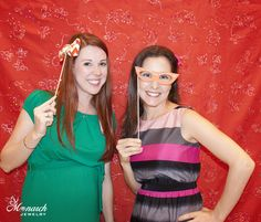 Fun photo booth pic of Rachel / Rachel V Photography and Nicolette Springer / Working on a Project  at Monarch Jewelry's Blog and Bling Event. The Monarch Jewelry showroom is located in Winter Park, Florida.