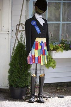 """Shop 'til you drop"" ~ Devon Horse Show Cute Display for a Tack Store"