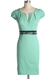 Nice Cocktail Dresses Great for the office! Mint and black dress with cap sleeves and removable belt. ... Check more at http://24store.tk/fashion/cocktail-dresses-great-for-the-office-mint-and-black-dress-with-cap-sleeves-and-removable-belt/