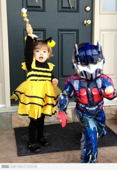 Optimus Prime and Bumblebee... close enough. (Maybe for my kids next year, lol)
