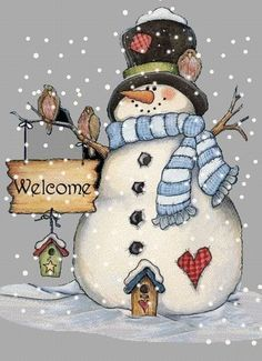 Holiday Christmas Cross Stitch Pattern--Snowman Welcome---New Years Eve--- Christmas Signs, Christmas Snowman, Winter Christmas, Vintage Christmas, Christmas Decorations, Christmas Ornaments, Snowman Crafts, Christmas Projects, Holiday Crafts
