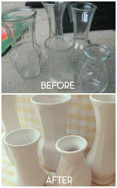 Faux Milk Glass
