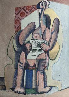Emil Filla: Čtenářka Lidových novin / 1932