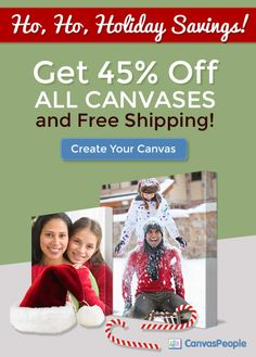 45% OFF Photo Canvas Sale + FREE SHIPPING