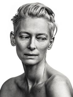 Tilda Swinton by Andy Gotts. If only I felt so confident… Tilda Swinton by Andy Gotts. If only I felt so confident… Tilda Swinton, White Photography, Portrait Photography, Fashion Photography, Photography Of People, Travel Photography, Editorial Photography, Photography Tips, Street Photography