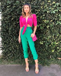 Bright Winter Outfits, Trendy Summer Outfits, Cute Girl Outfits, Colourful Outfits, Colorful Fashion, Color Combinations For Clothes, Color Blocking Outfits, Stylish Dresses, Stylish Outfits