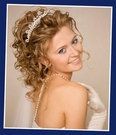 Half Updo Hair Styles For Wedding Bridesmaid | Wedding Hairstyles : Curly Half Up Half Down Updos | Updo hairstyles ...