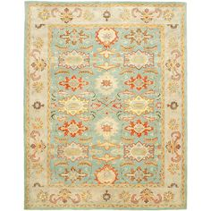 Safavieh Handmade Heritage Timeless Traditional Light Blue/ Ivory Wool Rug (6' x 9') - Free Shipping Today - Overstock.com - 13494764 - Mobile