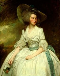 """""""By the mid 1770s the vertical extension of feminine hairdressing was complete, transforming its original smooth bouffant appearance into a mass of frizzed and powdered curls beneath extravagant straw and ribbon hats by the 1780s."""" –The Culture of Fashion."""