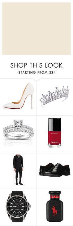 """wedding day"" by k-pradafurnishing on Polyvore featuring Maggie Sottero, Christian Louboutin, Annello, Chanel, Dsquared2, Massimo Matteo, Gucci, Ralph Lauren and Timberland"