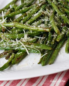 Roasted Parmesan Green Beans - Serves 4 (Double Recipe if desired) From Skinnytaste