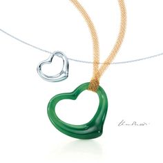 TIFFANY & CO. Elsa Peretti® Open Heart Pendants