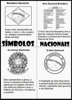 SÍMBOLOS NACIONAIS Primary School, Elementary Schools, Holga, English Class, Back To School, Homeschool, Study, Teaching, Education