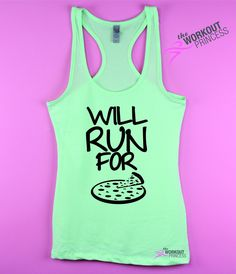 0aaf5c4c17c97 Will Run For Pizza - Womens Tank Top