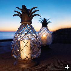 Pineapple Hurricane Lantern