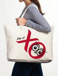 Chi Omega Canvas Tote Bag- perfect initiation gift! http://www.dormify.com/greek/chi-omega/chi-omega-canvas-tote-bag-hoot