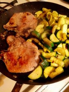 This is a TSFL Medifast L&G Meal for two – feeds hubby & myself all in one pan.Ingredients 2 Pork Chops 2 Zucchini 1 Yellow Squash Clove of ...