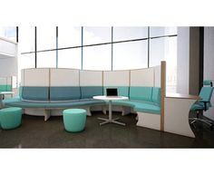 The curving construction of the O'zone creates private and communal spaces for touchdown working or longer periods of desk based study.