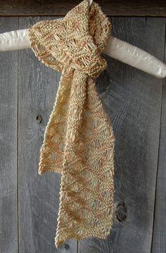 Womens Handknit Scarf  Bamboo Yarn  Daffodil  by CabinLil on Etsy, $28.00