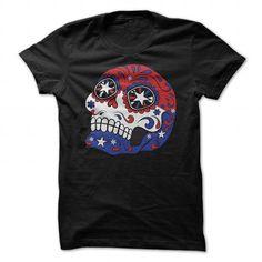 Patriotic American Flag Sugar Skull T-shirt - #shirt style #sweater nails. LOWEST PRICE => https://www.sunfrog.com/Holidays/Patriotic-American-Flag-Sugar-Skull-T-shirt-Black-49427943-Guys.html?68278