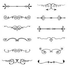 Старинные украшения набор Бесплатные векторы